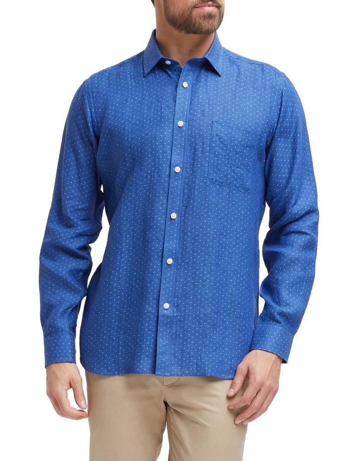 Elliot Long Sleeve Linen Printed Shirt image 1