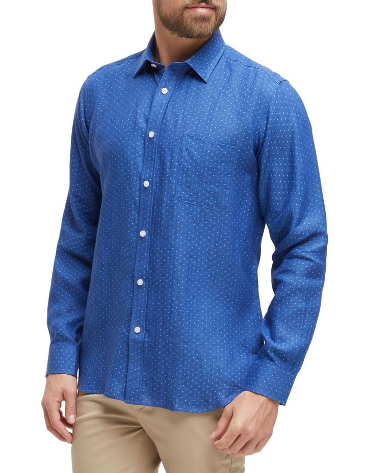 Elliot Long Sleeve Linen Printed Shirt image 2