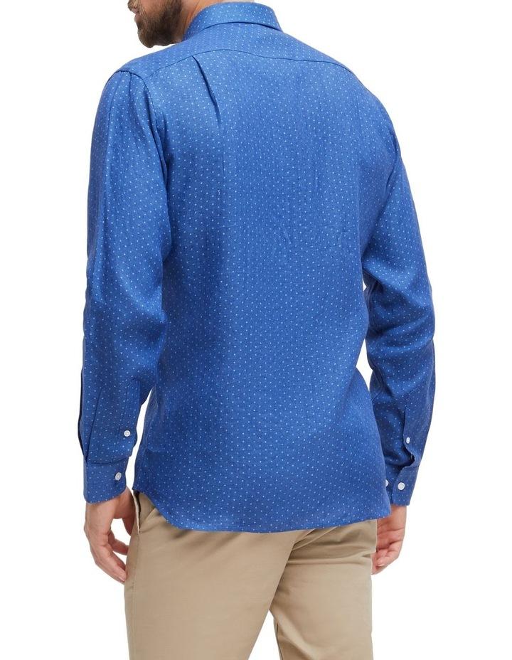 Elliot Long Sleeve Linen Printed Shirt image 3