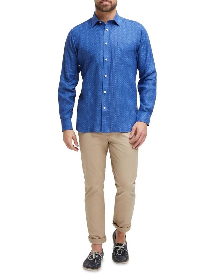 Elliot Long Sleeve Linen Printed Shirt image 4