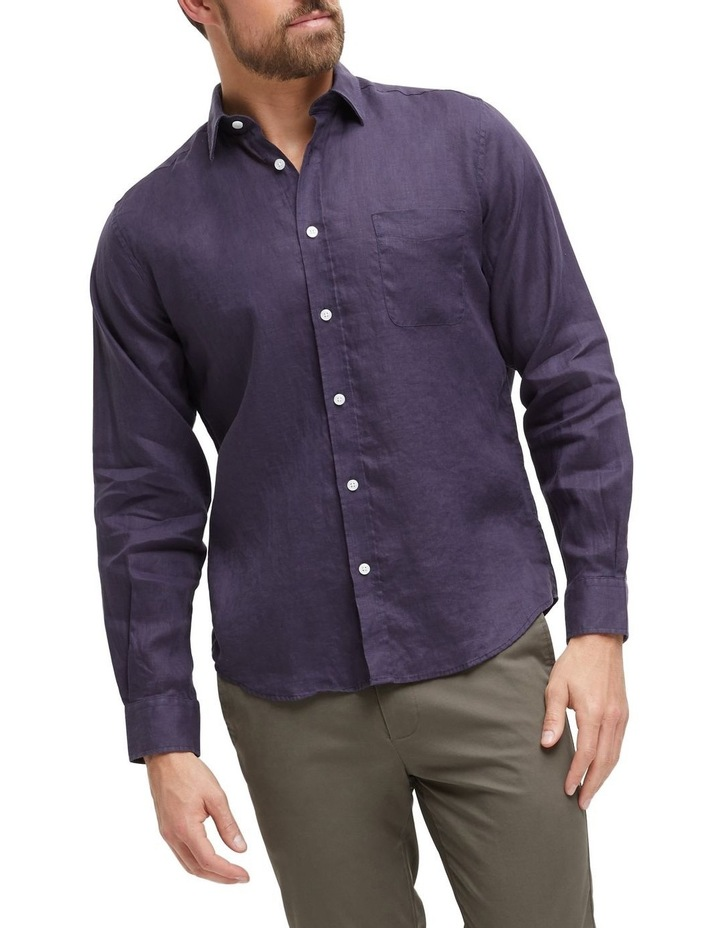 Cooper Long Sleeve Linen Shirt image 1