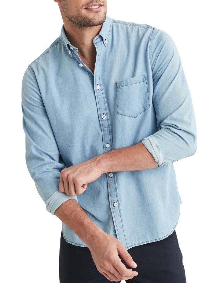Oscar Long Sleeve Denim Shirt image 3