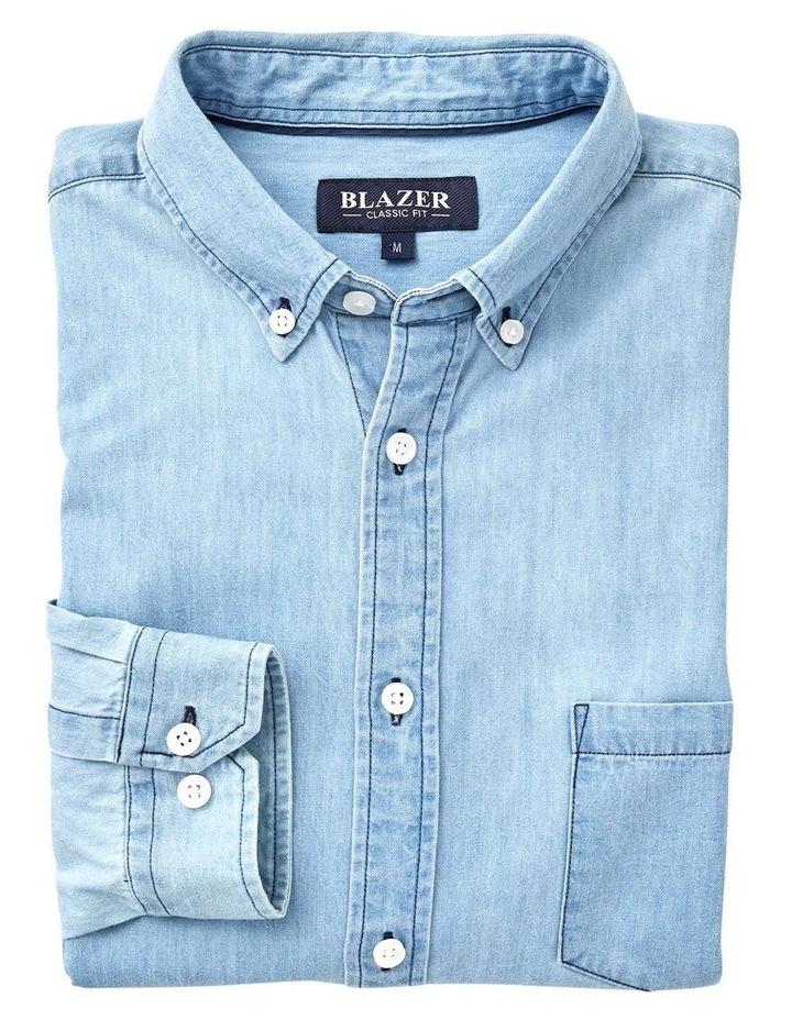 Oscar Long Sleeve Denim Shirt image 4