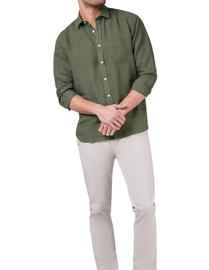 Cooper Long Sleeve Linen Plain Shirt image 3