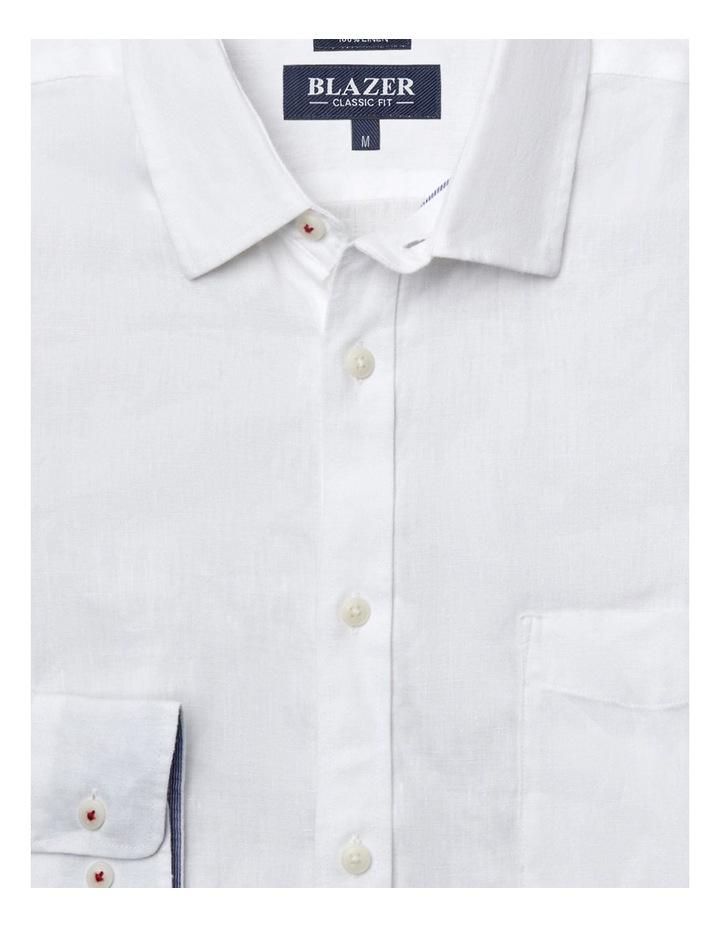 Cooper Long Sleeve Linen Plain Shirt image 5