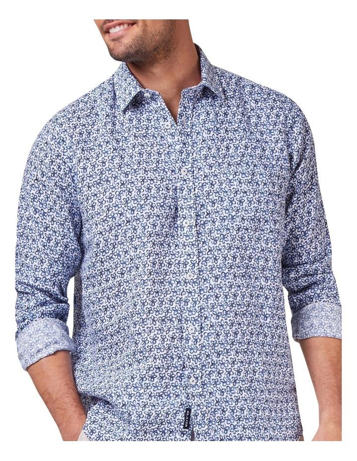 Edward Long Sleeve Linen Print Shirt image 1