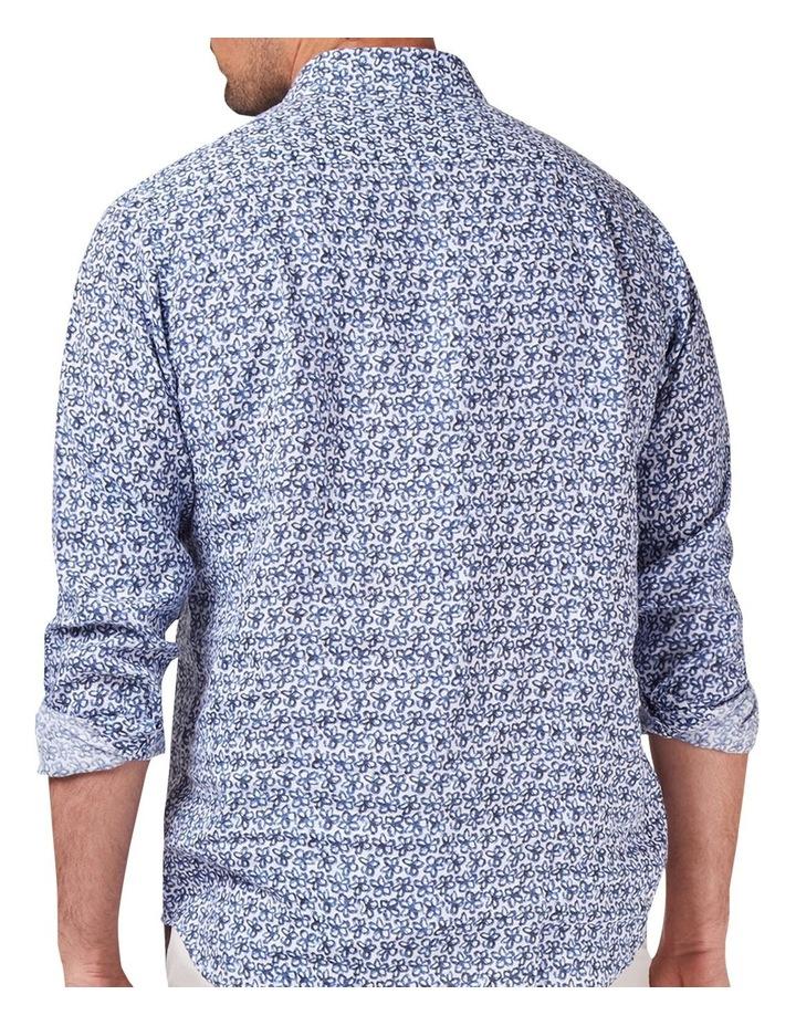 Edward Long Sleeve Linen Print Shirt image 2