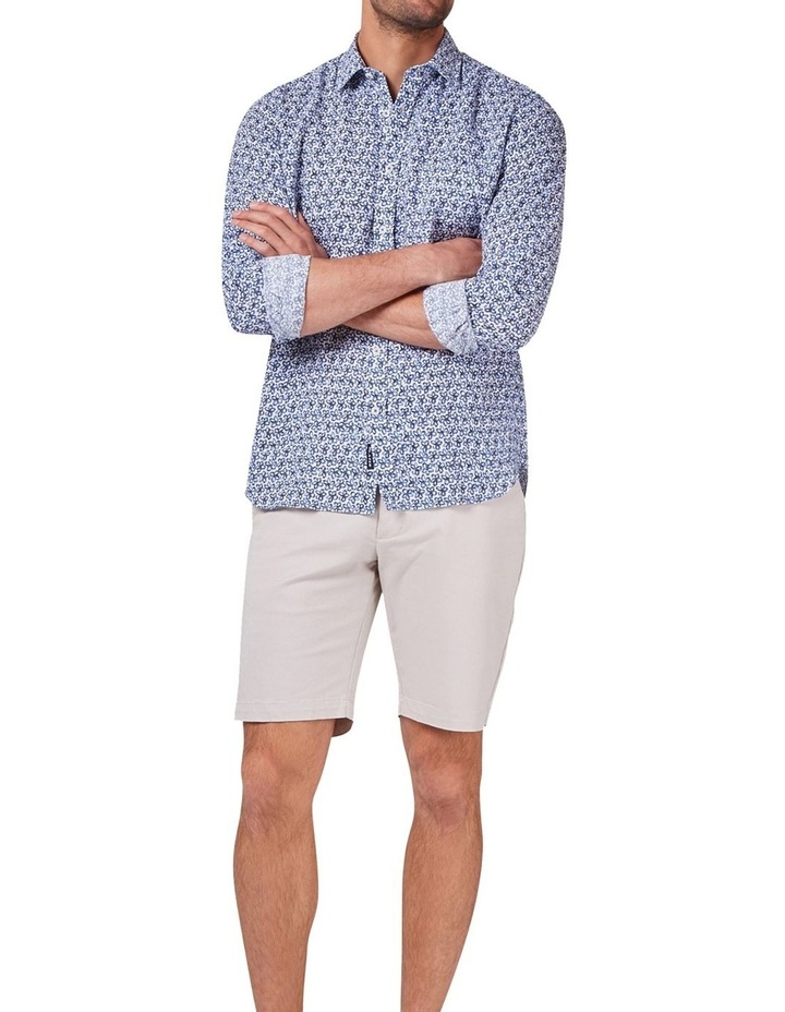 Edward Long Sleeve Linen Print Shirt image 3