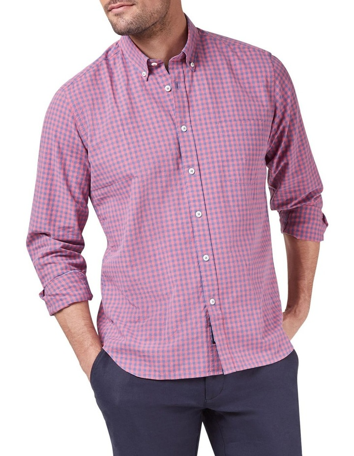 Mason Long Sleeve Cotton Linen Check Shirt image 1