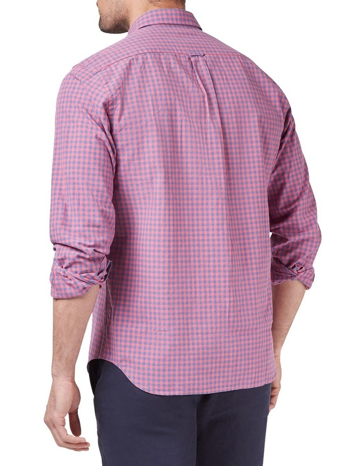 Mason Long Sleeve Cotton Linen Check Shirt image 2