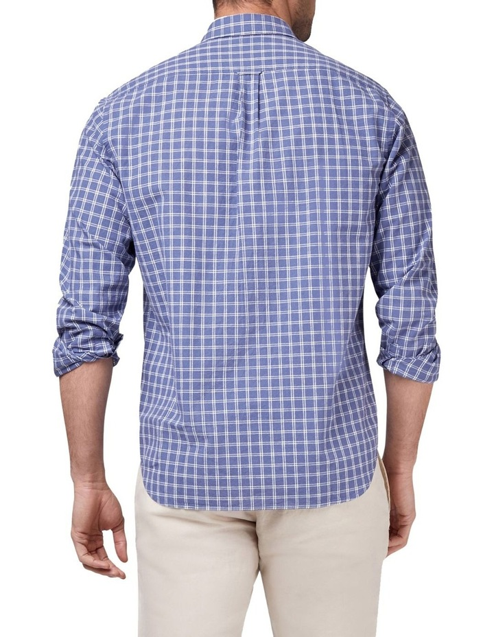 Riley Long Sleeve Cotton Linen Check Shirt image 2