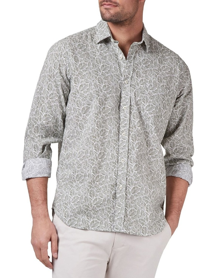 Tommy Long Sleeve Cotton Linen Print Shirt image 1