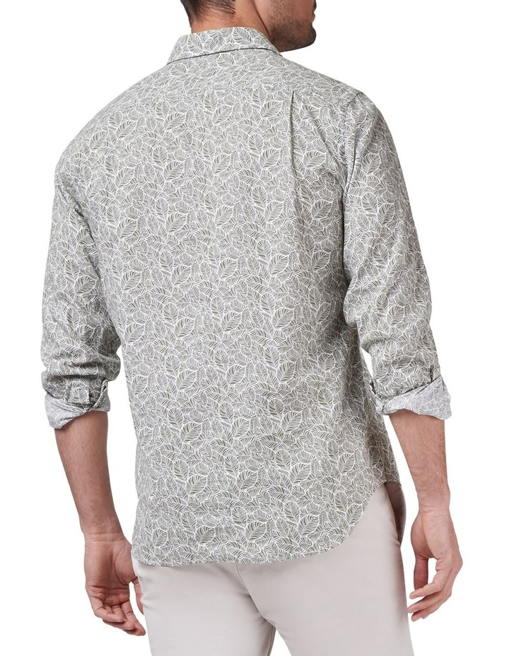 Tommy Long Sleeve Cotton Linen Print Shirt image 2