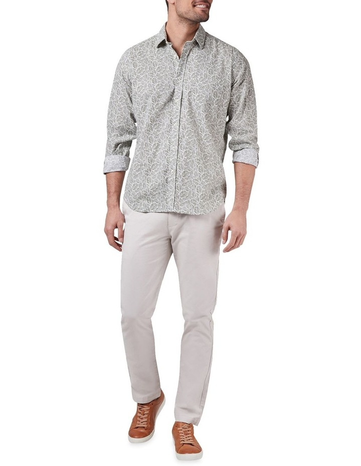 Tommy Long Sleeve Cotton Linen Print Shirt image 3