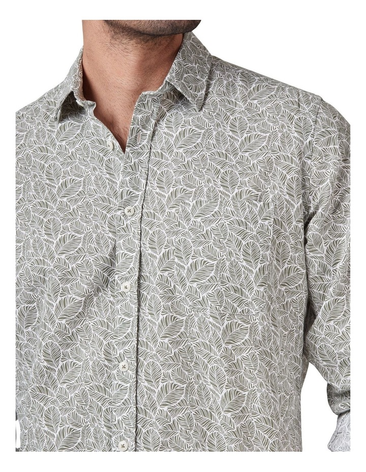 Tommy Long Sleeve Cotton Linen Print Shirt image 4