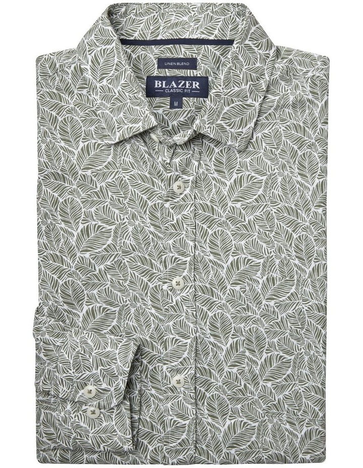 Tommy Long Sleeve Cotton Linen Print Shirt image 5
