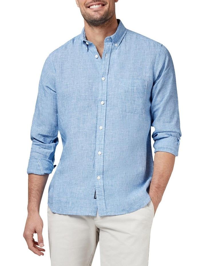 Alexander Long Sleeve Linen Check Shirt image 1