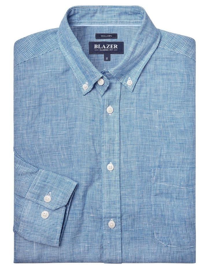 Alexander Long Sleeve Linen Check Shirt image 4