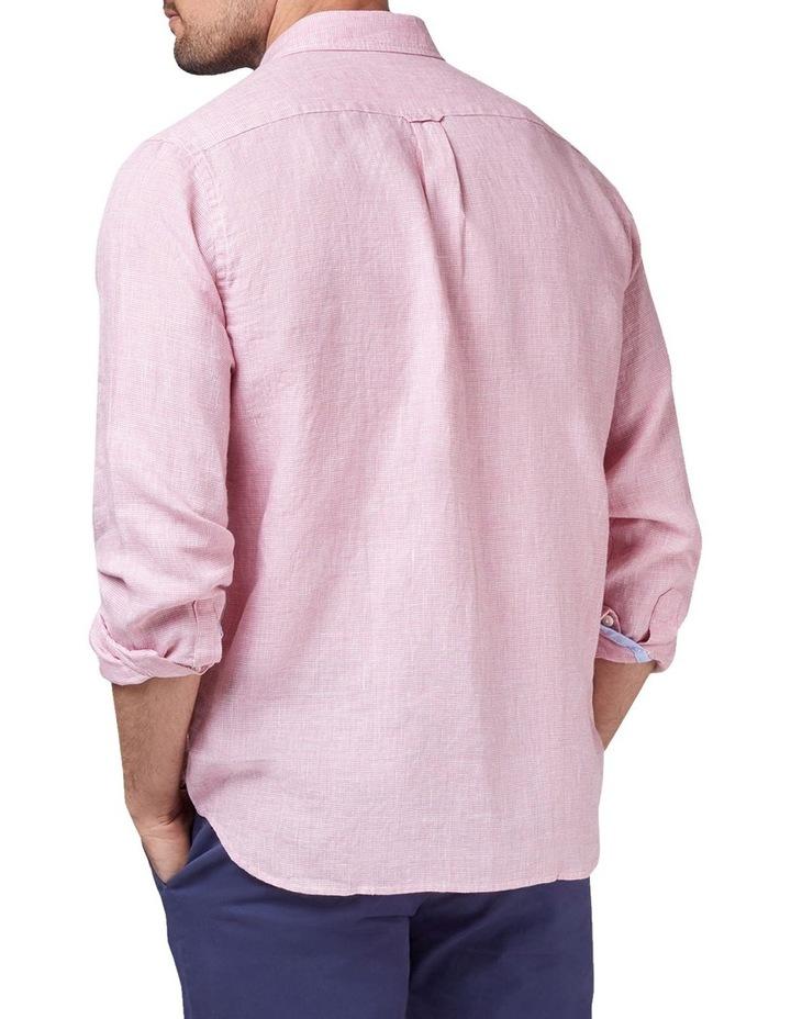 Alexander Long Sleeve Linen Check Shirt image 2