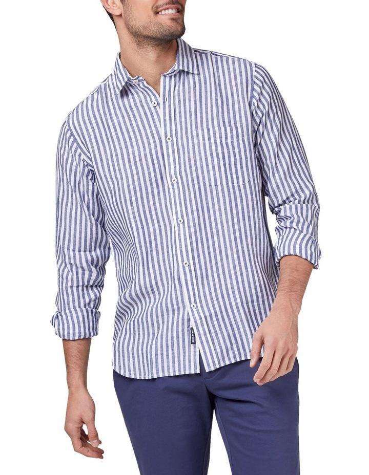 Jayden Long Sleeve Linen Stripe Shirt image 1