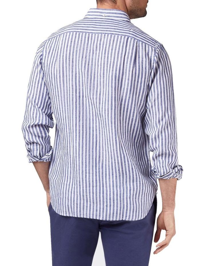 Jayden Long Sleeve Linen Stripe Shirt image 2