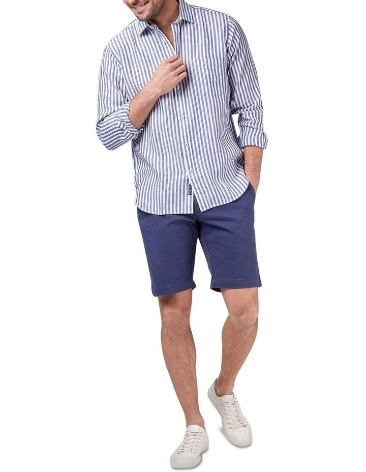 Jayden Long Sleeve Linen Stripe Shirt image 3
