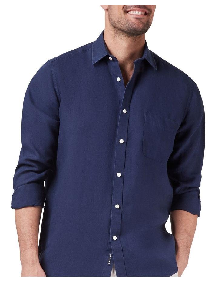 Cooper Long Sleeve Linen Plain Shirt image 1