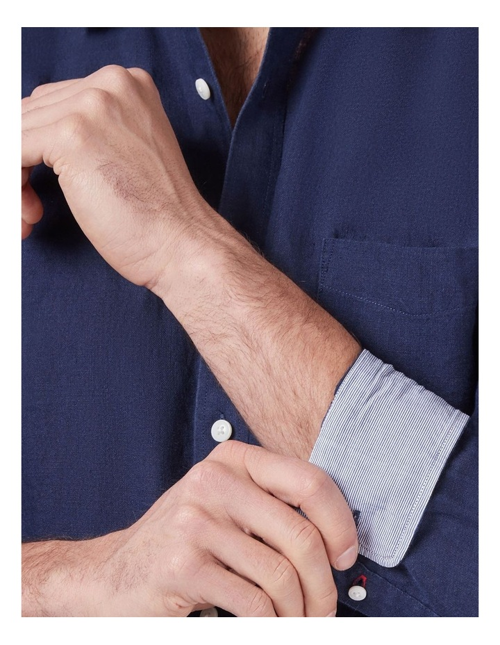 Cooper Long Sleeve Linen Plain Shirt image 4