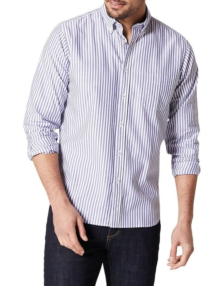 Alec Long Sleeve Oxford Stripe Shirt image 1
