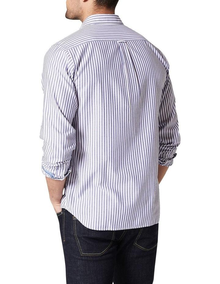 Alec Long Sleeve Oxford Stripe Shirt image 2