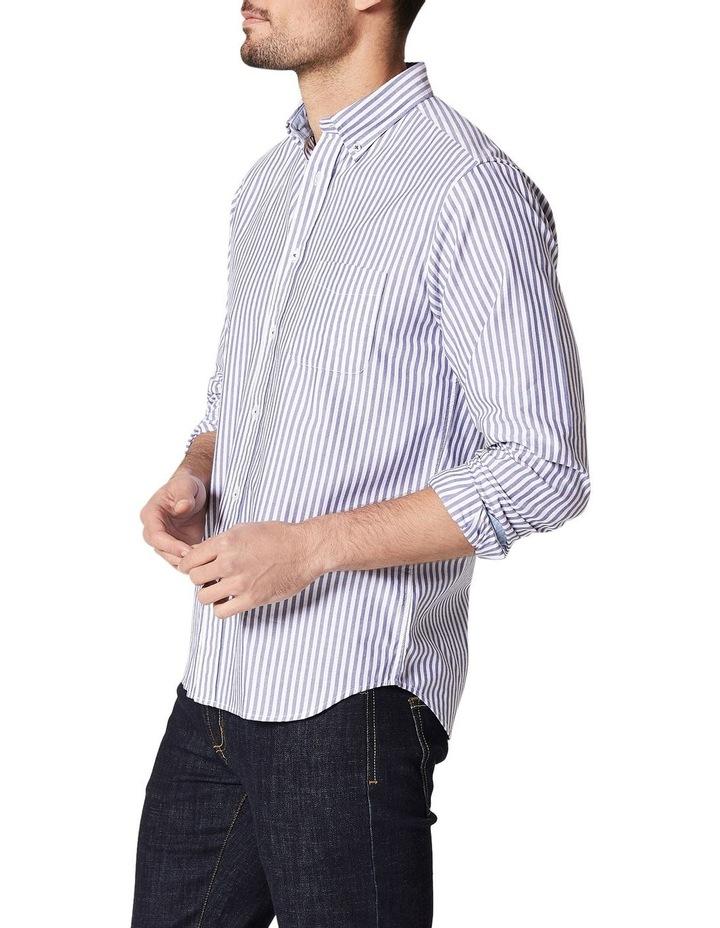 Alec Long Sleeve Oxford Stripe Shirt image 3