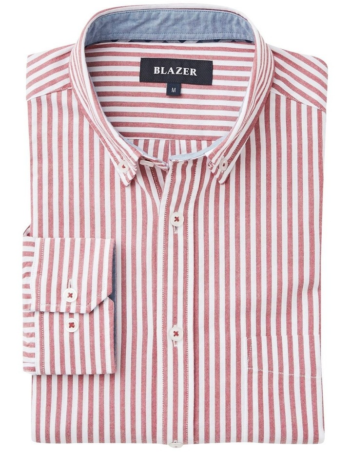 Alec Long Sleeve Oxford Stripe Shirt image 4
