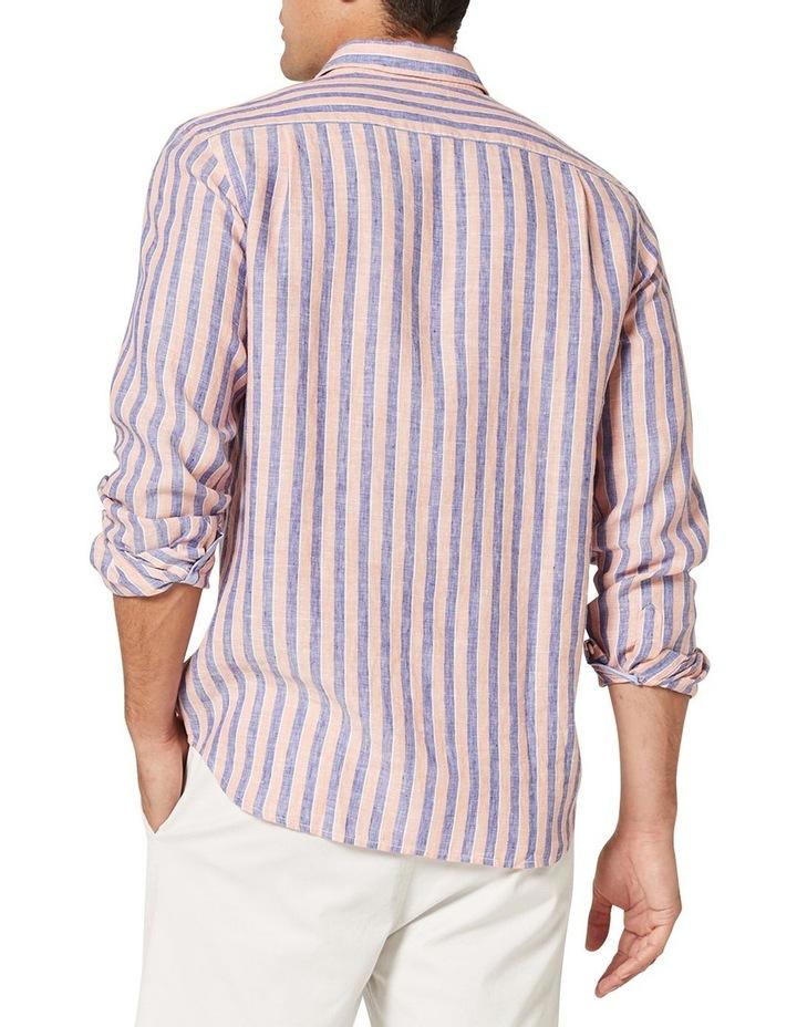 Dominic Long Sleeve Linen Stripe Shirt image 2