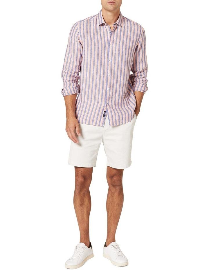Dominic Long Sleeve Linen Stripe Shirt image 3