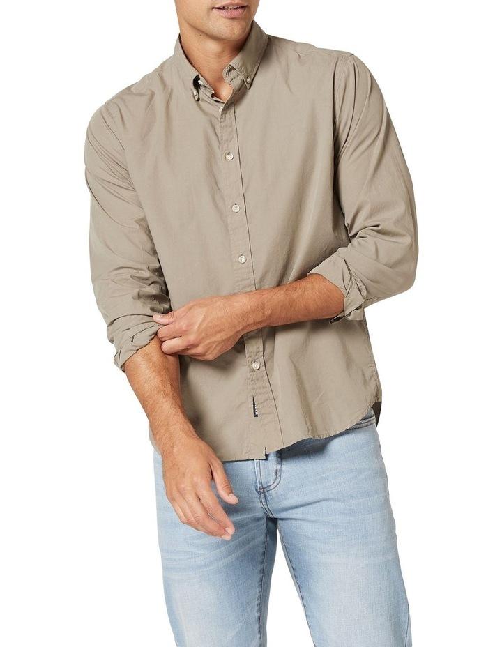 Hugo Long Sleeve Solid Dye Shirt Sage image 1