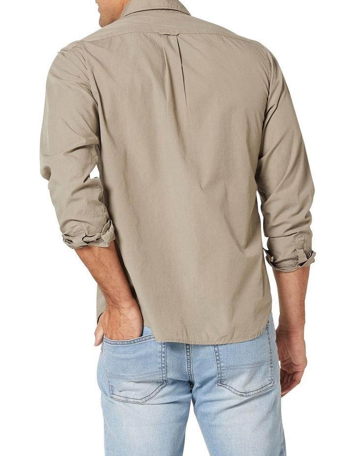 Hugo Long Sleeve Solid Dye Shirt Sage image 2