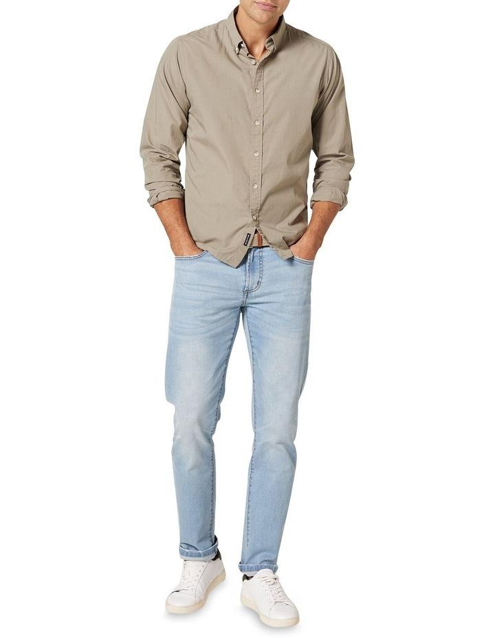 Hugo Long Sleeve Solid Dye Shirt Sage image 3