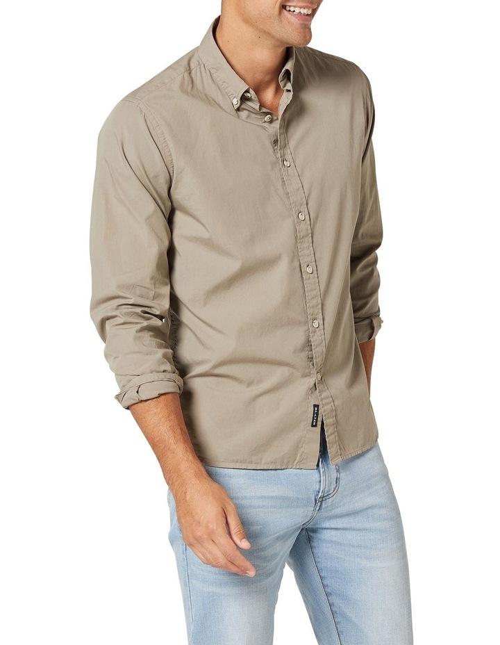 Hugo Long Sleeve Solid Dye Shirt Sage image 4