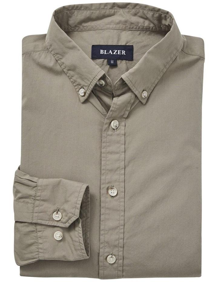 Hugo Long Sleeve Solid Dye Shirt Sage image 5