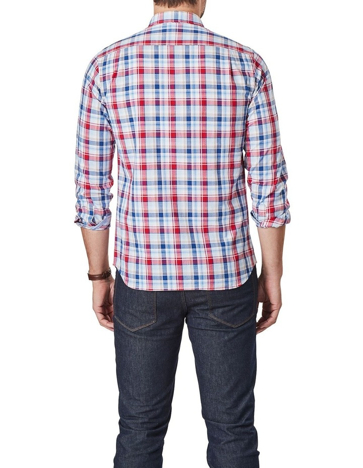 Jamieson Long Sleeve Check Shirt In Red/Navy image 2