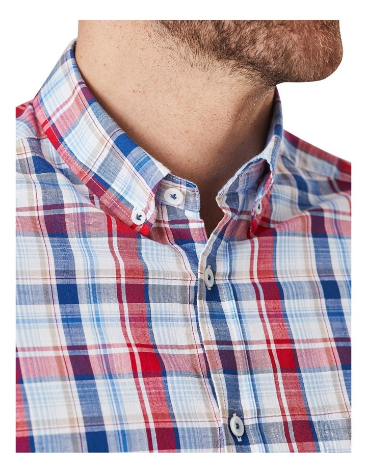 Jamieson Long Sleeve Check Shirt In Red/Navy image 3