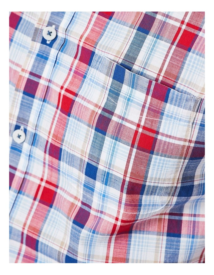 Jamieson Long Sleeve Check Shirt In Red/Navy image 4