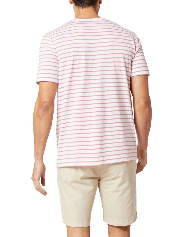 Jones Stripe Tee White/Coral Melange image 2