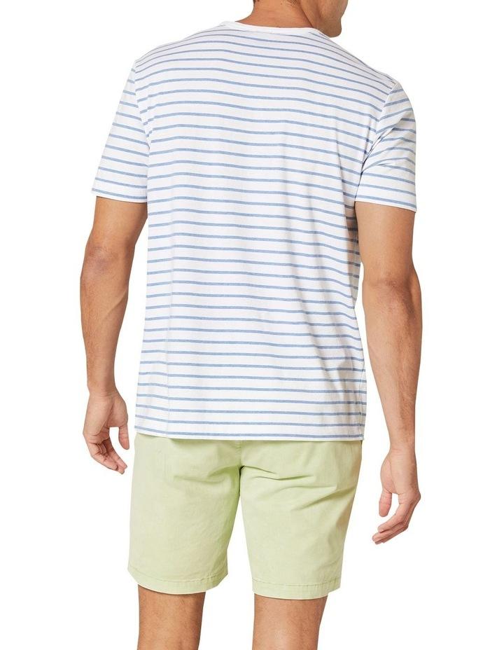 Jones Stripe Short Sleeve Tee White/Sky Blue image 2