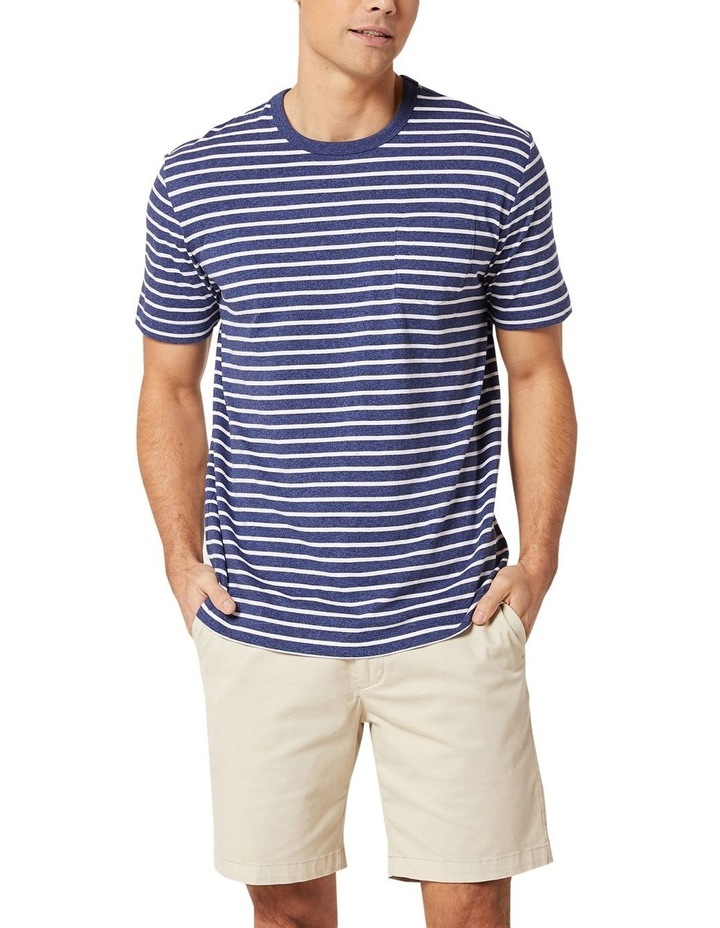 Jones Stripe Tee Navy Melange/White image 1