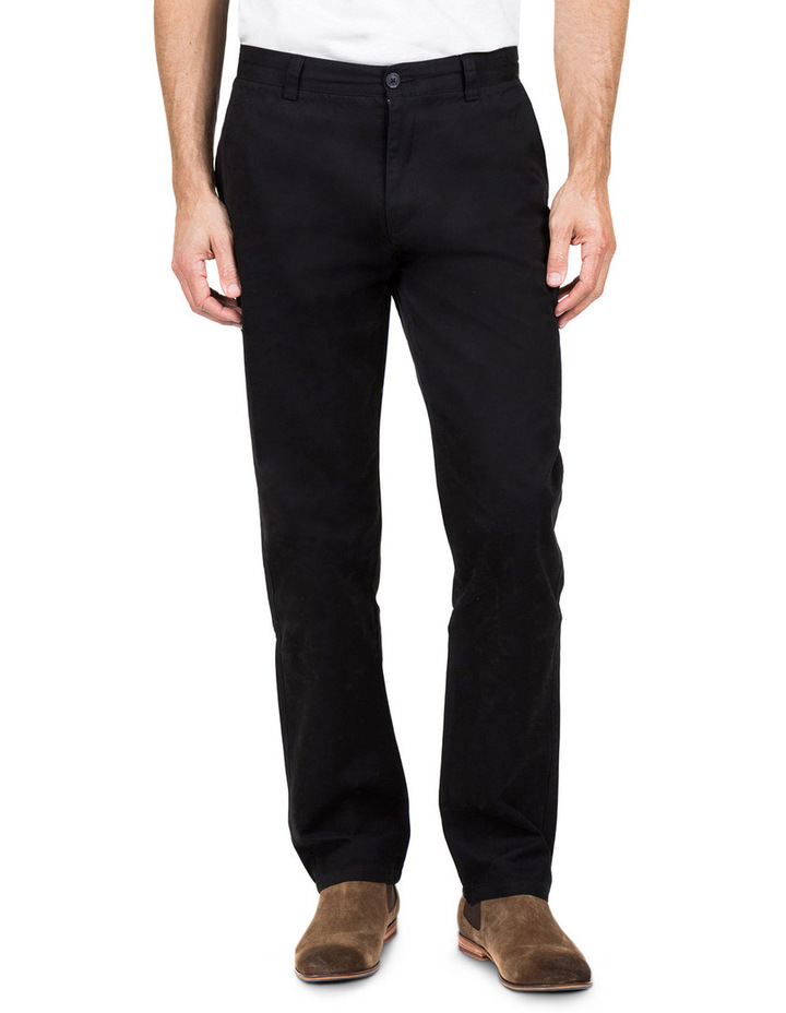 Classic Chino Pant In Black image 1
