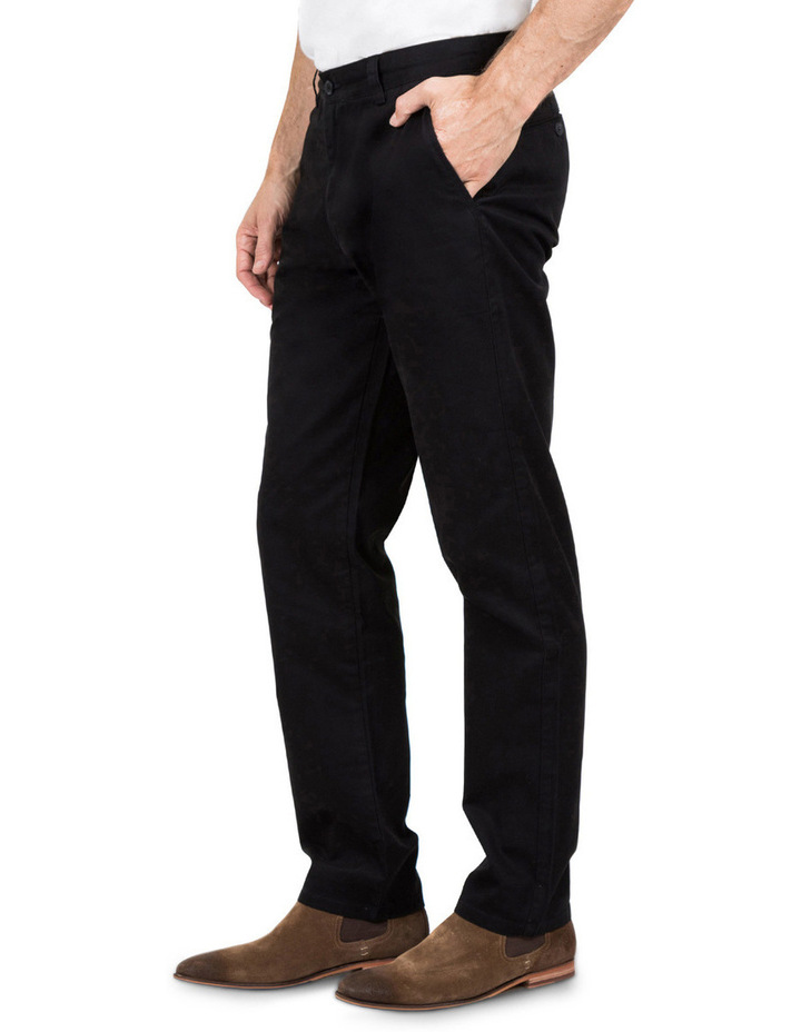 Classic Chino Pant In Black image 2