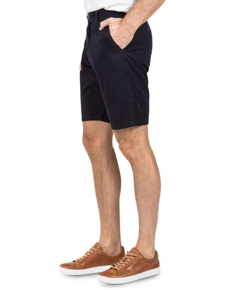 Flat Front Chino Short In Navy image 1