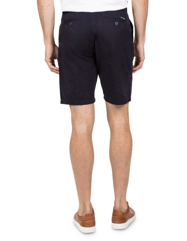 Flat Front Chino Short In Navy image 2