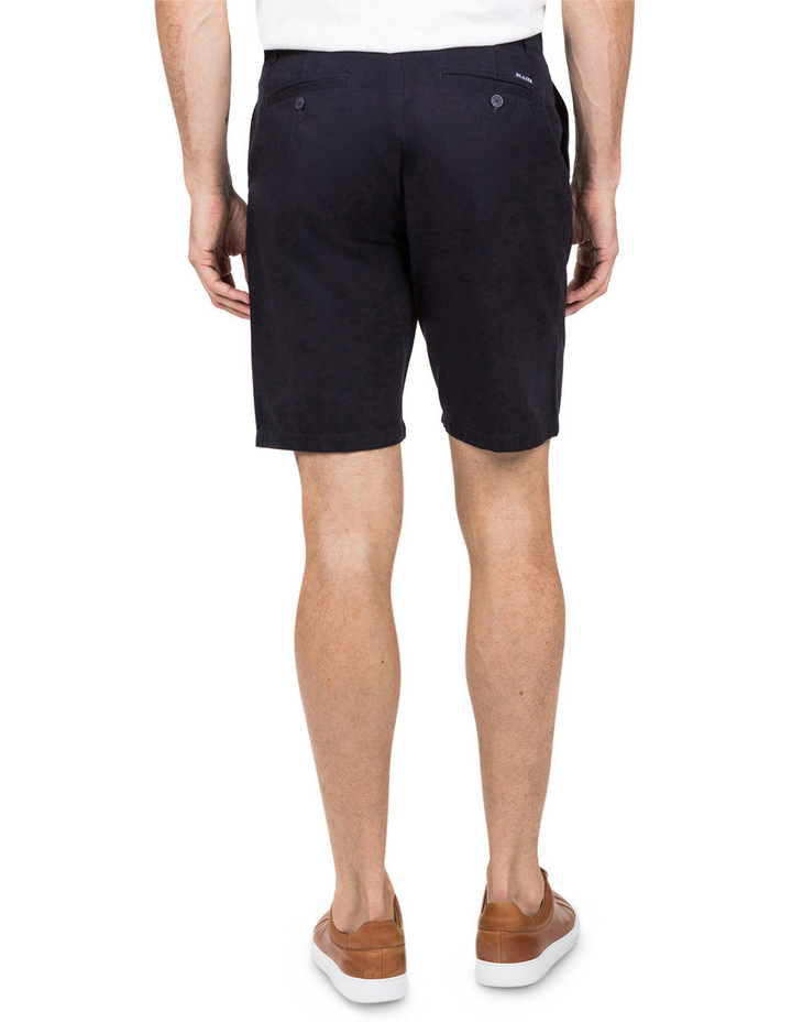 Flat Front Chino Short In Navy image 4